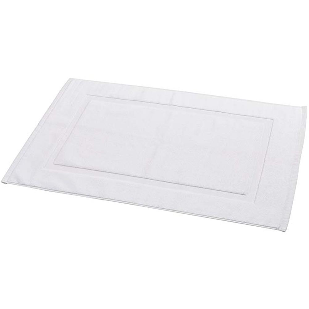 50x80cm Non-Slip Cotton Woven Banded Bath Mat Floor Washable Shower Bathroom Carpet Towels Absorbent Super Soft