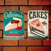 PixDecor     signe en metal Vintage  Style Cupcake gateaux doux Dessert  12 Vintage  8x12 pouces  2 pieces   decor de maison  signe en metal retro