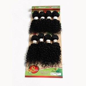 "Free Shipping Brazilian Virgin Human Hair 8-14"" Jerry Curly Kinky Curl Deep Wave Hair Weaves 8 Bundles/pack Ombre Hair T1B/27"