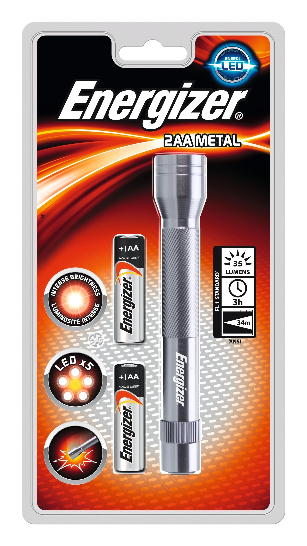 Energizer Linterna Mano Led Metal 60 Lúmenes 2AA
