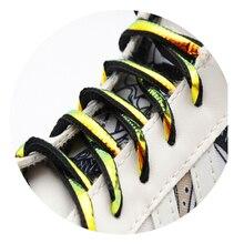 Lacci ovali tipo 6MM per scarpe da trekking uomo donna Sneaker 2021 corde sportive Unisex bianco argento rosa per personalizzato
