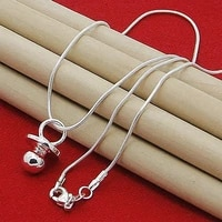 brand new arrival 925 sterling silver baby pacifier round pendant necklace for women girl silver jewelry necklace