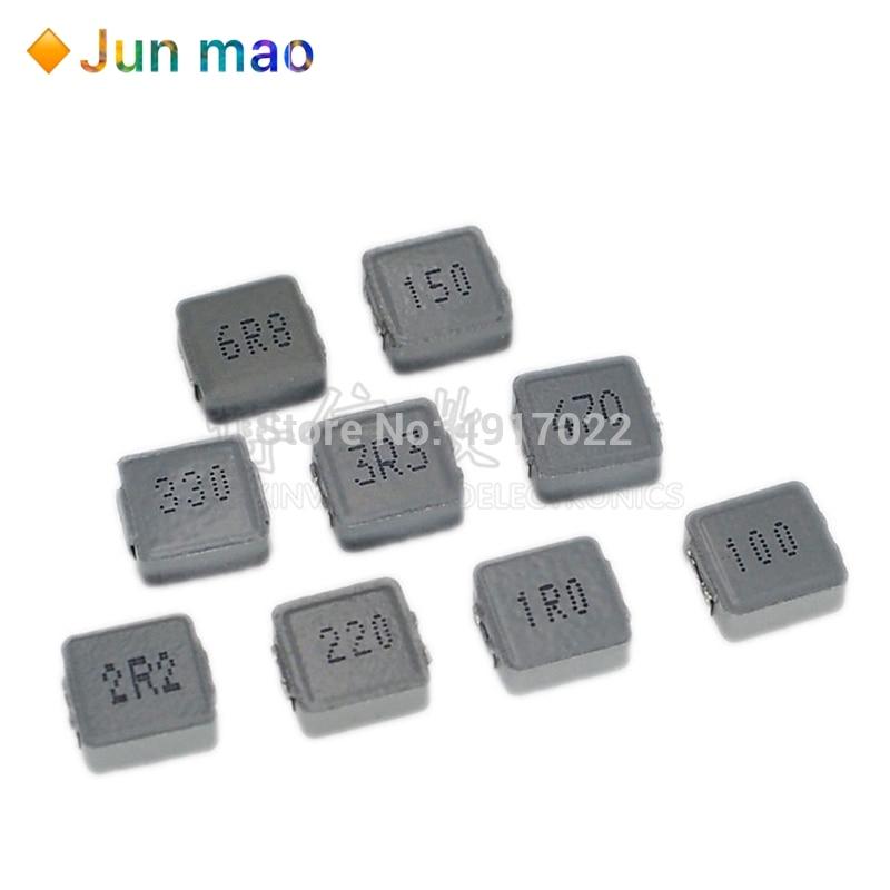 10 Uds Inductores de potencia SMD 0520 1UH 2.2UH 3.3UH 4.7UH 6.8UH 10UH Chip Inductor 0520 5*5*2 1R0 2R2 3R3 4R7 6R8 100