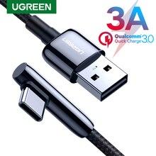 Ugreen USB C câble 90 degrés USB Type C à USB un chargeur rapide câble de données pour Samsung S9 S8 Note 9 téléphone portable chargeur USB cordon