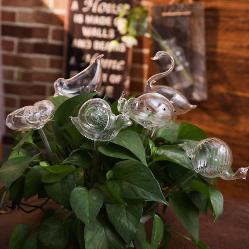 Casa plantas flores alimentador automático de agua dispositivos de riego automático alimentador de agua de vidrio transparente Dispositivo de autoriego de 6 formas