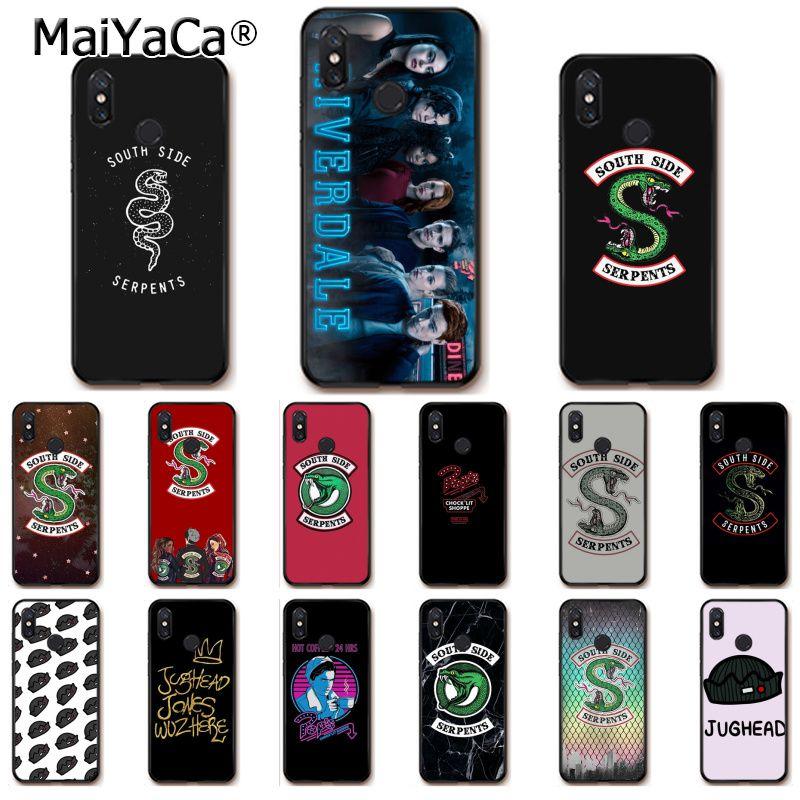 "MaiYaCa Лидер продаж Американский ТВ show ривердейл ""South Side serpents"" чехол для телефона для Xiaomi mi5 6 A1 A2 Lite Mi9 9SE mi8lite 8explorer F1"