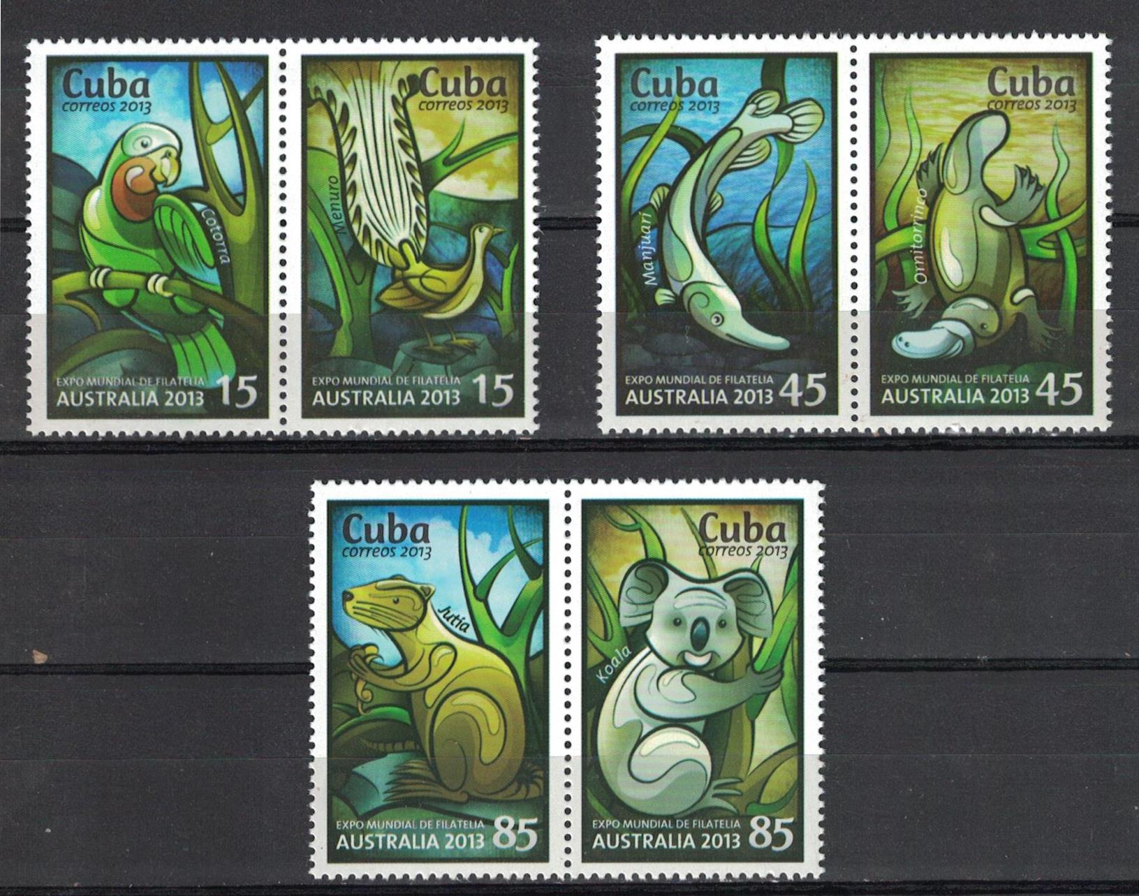 "Cuba 2013 ""Feria Mundial de sellos de Australia 2013-a."