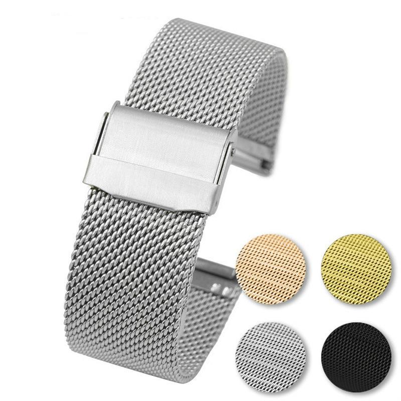 Correa Universal de reloj milanesa para Daniel grosgrain DW, correa de reloj de 12mm, 14mm, 16mm, 18mm, 20mm, 22mm, correa de reloj milanesa