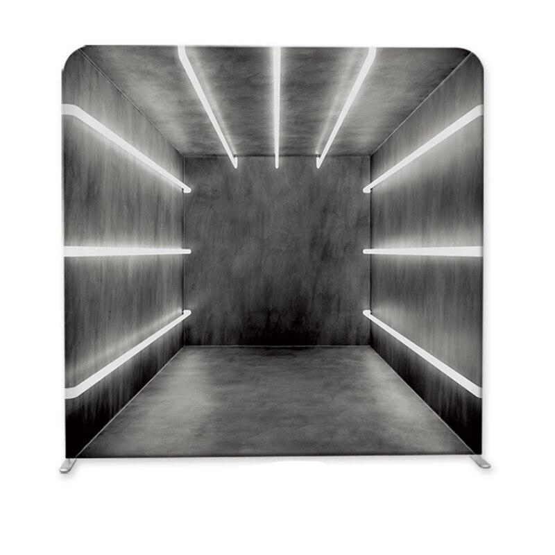 Stand de Vogue LED diseño tensión estirable tela Exposición de evento personalizado funda de almohada telón de fondo soporte de fotografía para evento de fiesta