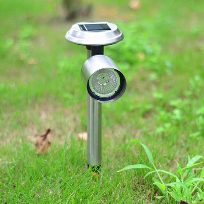 Lámparas Led solares de acero inoxidable para Sendero, lámparas solares impermeables para exteriores, lámparas para césped y jardín, luz para pasarela con paisaje de jardín