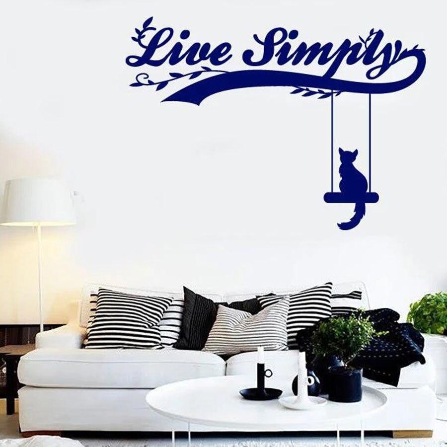 Vinilo vinilo pegatina ventana palabra y cita como gato en un Mural pared sala de estar decoración de casa S1392