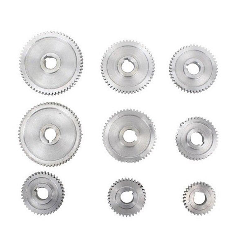 تروس المخرطة المعدنية ، تغيير التروس بحزام المخرطة ، مجموعة تروس معدنية لمخارط صغيرة وآلات طحن CJ0618