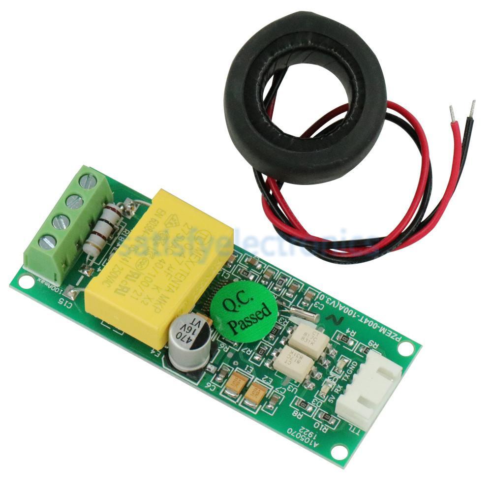 Цифровой многофункциональный измеритель переменного тока, МОДУЛЬ тестирования напряжения и тока PZEM-004T TTL COM2/COM3/COM4 0-100A 80-260 В для Arduino