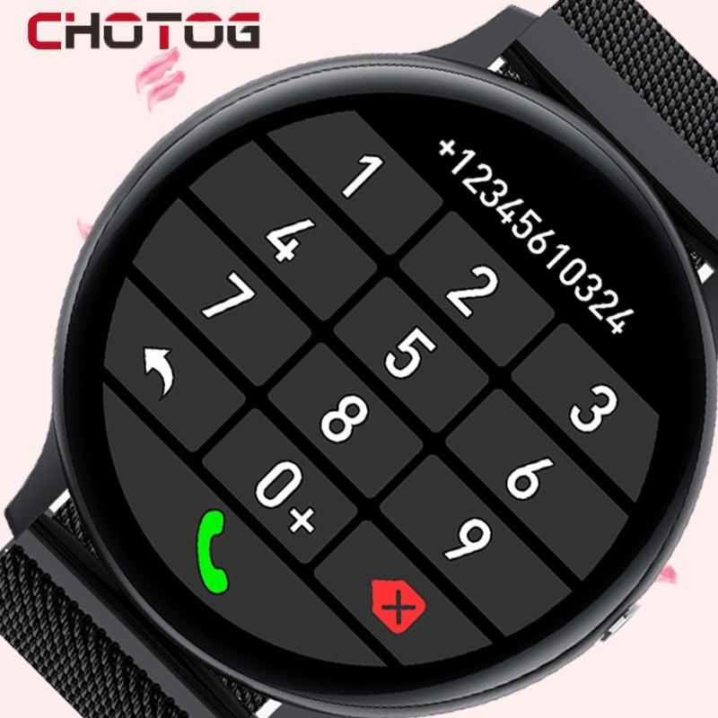 CHOTOG Smart Watch Men Bluetooth Call Play Music Smartwatch Women IP68 Full Touch Sport Heart Rate F
