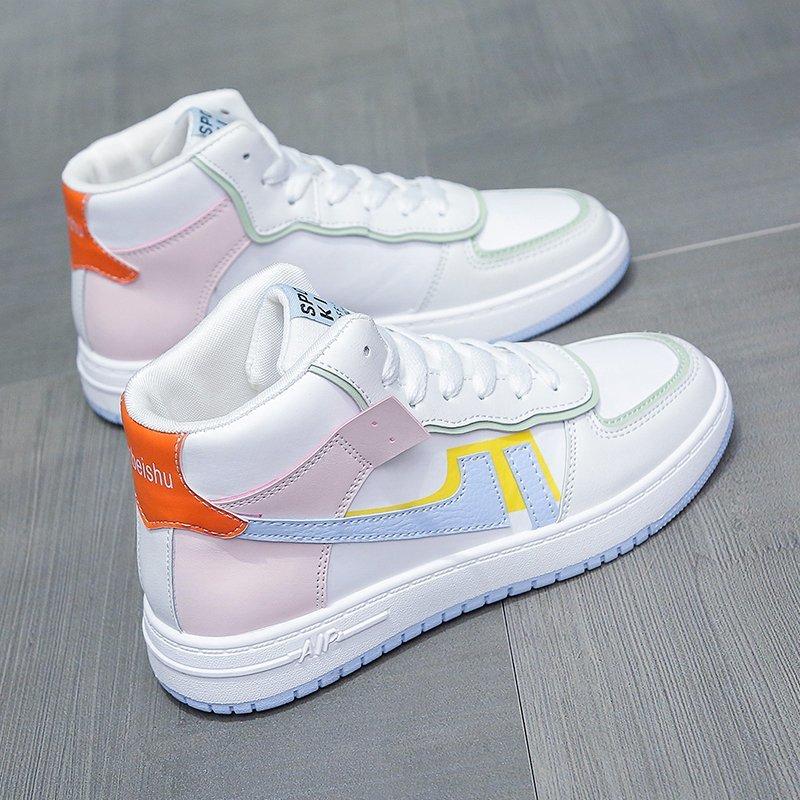 2020 نساء حذاء كاجوال جديد ربيع نساء أحذية موضة مطرزة أبيض أحذية رياضية تنفس زهرة الدانتيل متابعة النساء أحذية رياضية