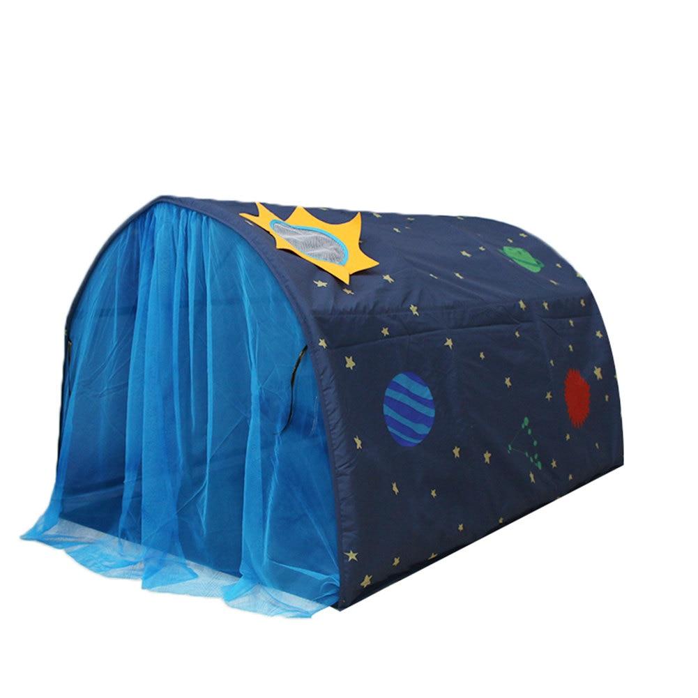 Crianças econômicas cama tenda jogo casa dobrável criança sonho canopes mosquito net interior ds99