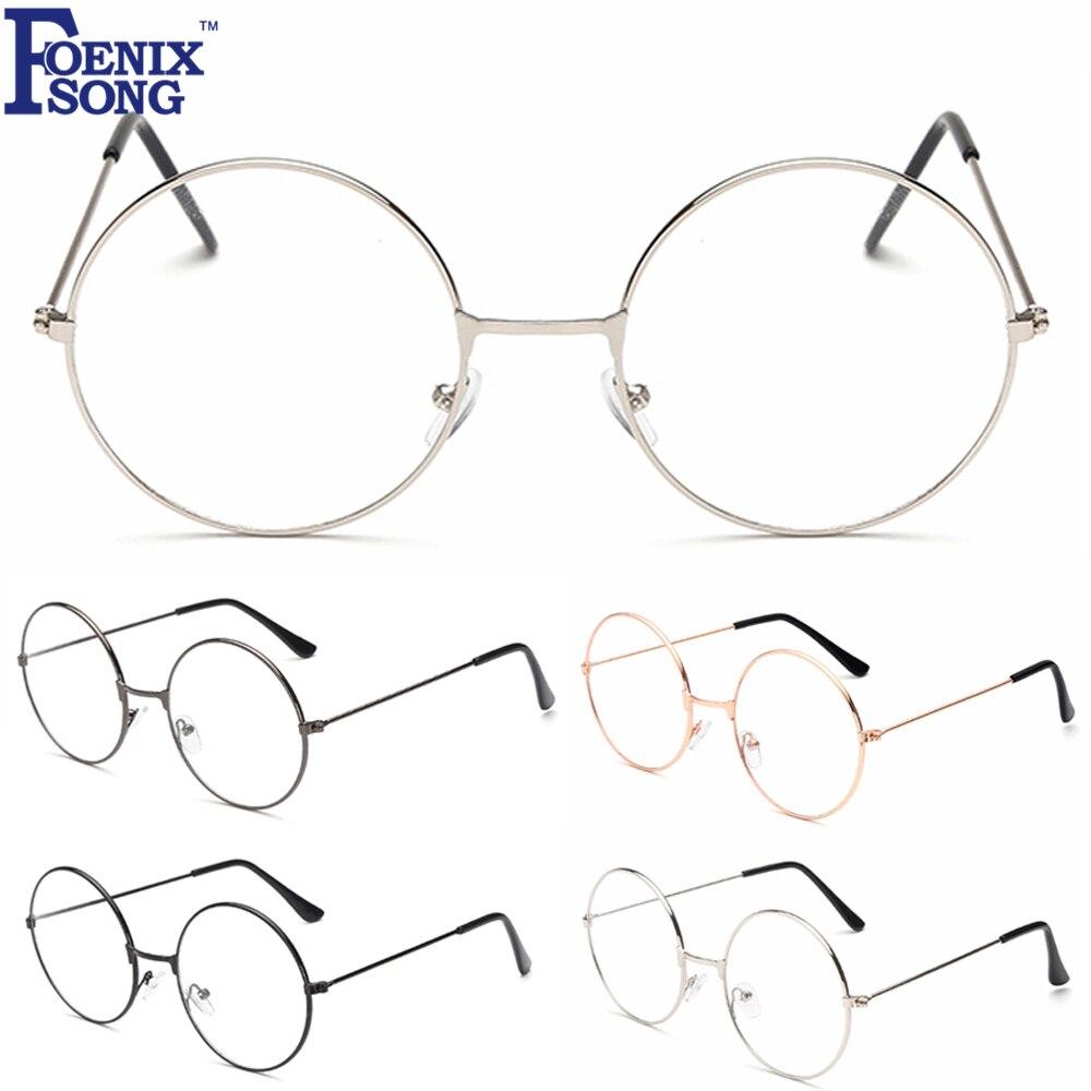 Женские очки в стиле ретро, винтажные круглые очки в золотистой оправе, 2018