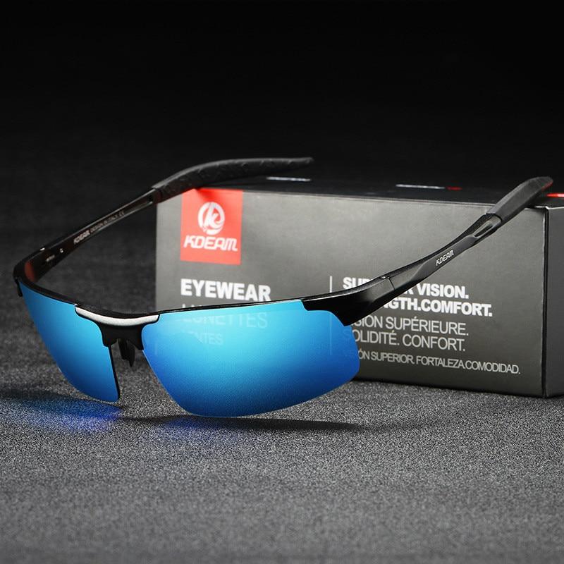 Солнцезащитные очки поляризационные UV400 Мужские, роскошные темные очки для вождения, зеркальные, квадратной формы, лето 2020