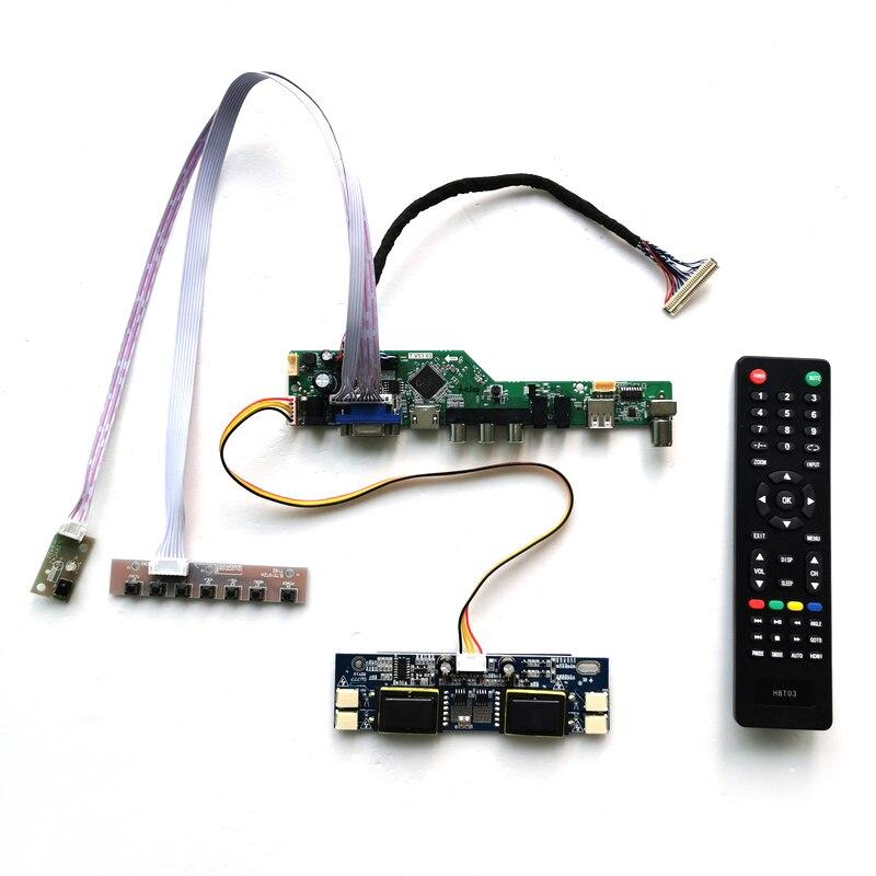 ل HT170E01/HT170EX1 4-CCFL 30Pins LVDS لوحة مراقبة 1280*1024 الصوت VGA USB البعيد 17