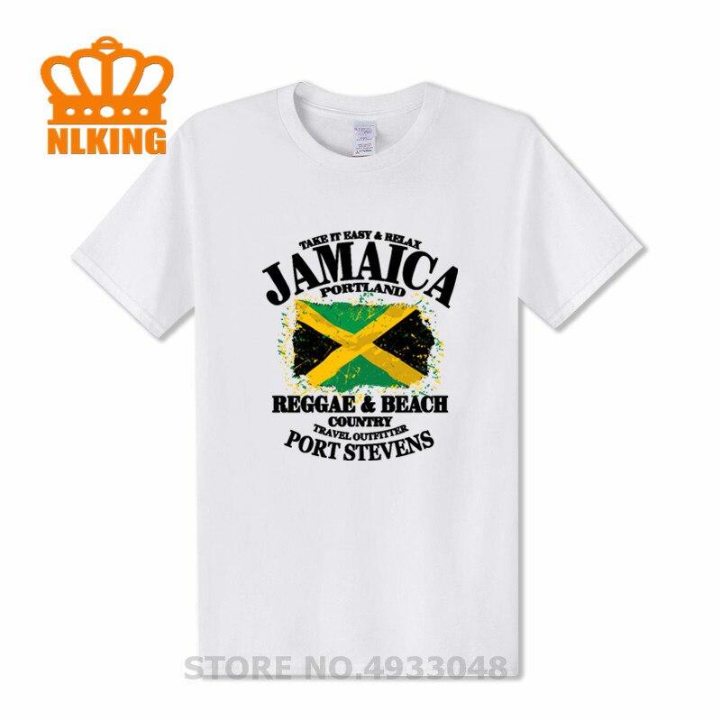 Camiseta de verano para hombres de Reggae & playera Country- Jamaica, camiseta con bandera de Portland, Camiseta de algodón, camiseta de regalo, ropa, #1