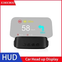 car hud head up display gps navigation obd2 head up display universal scanner on board computer bluetooth speedometer projection
