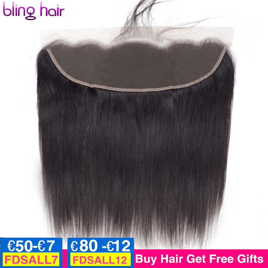 bling hair Transparent 13x6 Lace Frontal Closure Only Peruvian Straight Human Hair 13x4 Lace Frontal 4x4 Lace Closure Remy Hair