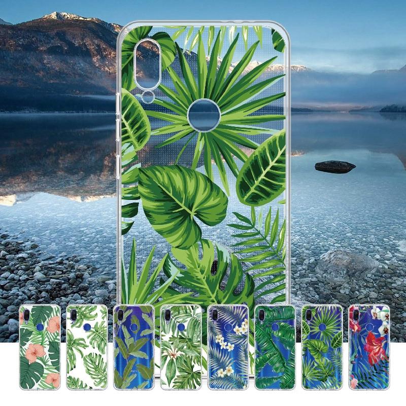 Vintage Tropic Floral For Xiaomi Mi Redmi Note 5 6 7 8 9 10 lite Pro Plus Soft TPU Crystal Slim Protective Clear Case