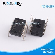 100 Pcs UC3842BN DIP8 UC3842B UC3842 Switching Controller 52 Khz Stroom Pwm Duty Cycle 1A W/96% Max Nieuwe originele