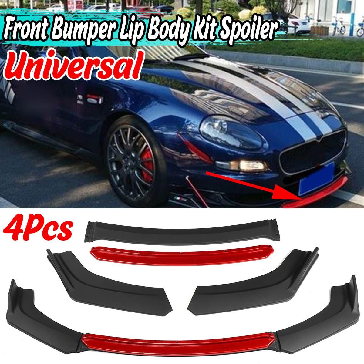 4Pcs Universal Car Front Bumper Splitter Lip Body Kit Spoiler Diffuser For Honda For Civic For BMW For Benz For Audi For Toyota