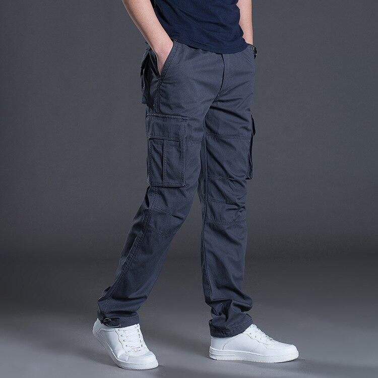 Новинка 2021, мужские брюки-карго, мужские повседневные военные тактические брюки большого размера с несколькими карманами, мужская верхняя ...