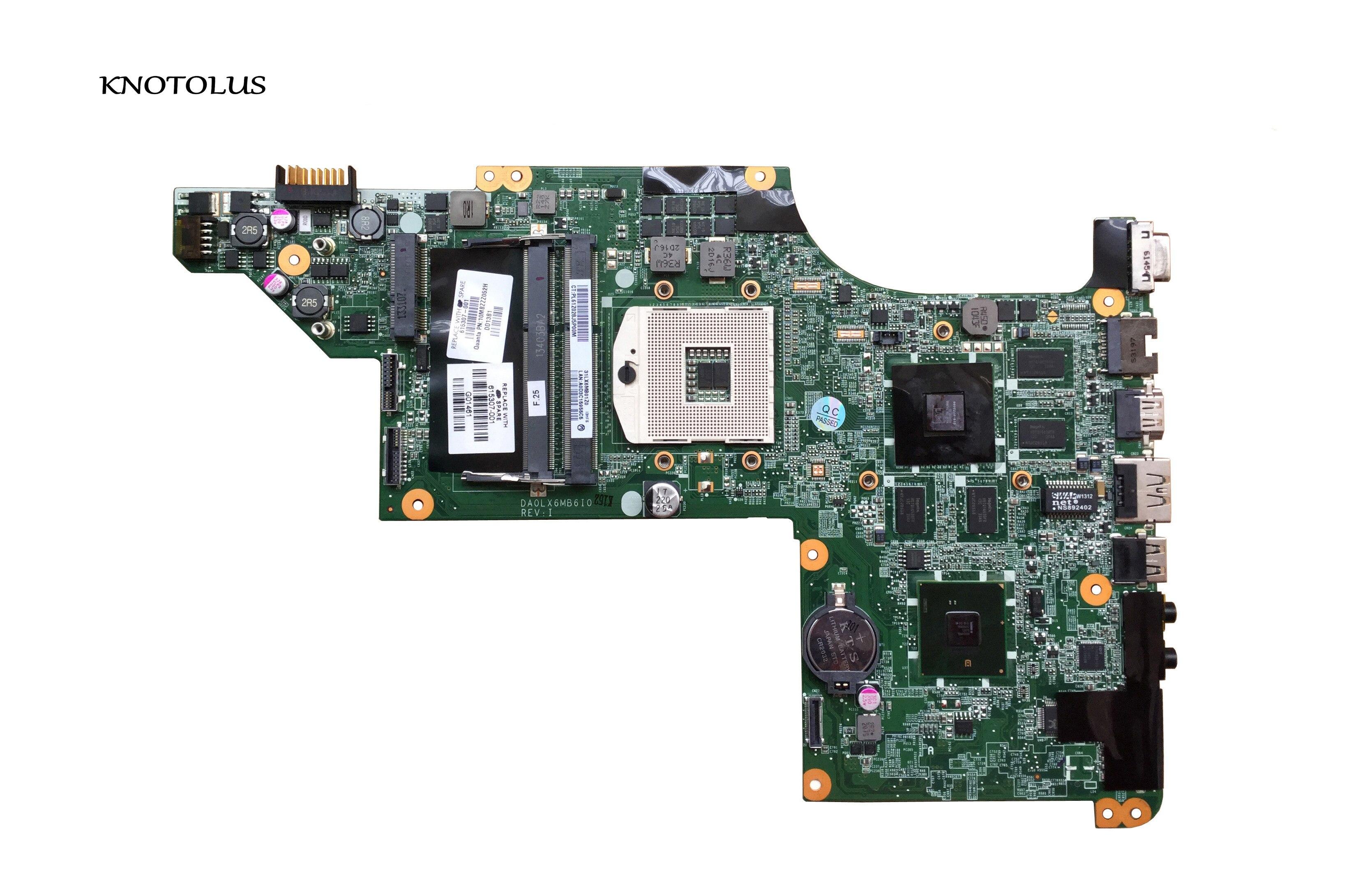 605320-001 615307-001 original computador portátil mainboard para hp pavilion dv7 DV7-4000 placa-mãe da0lx6mb6h1
