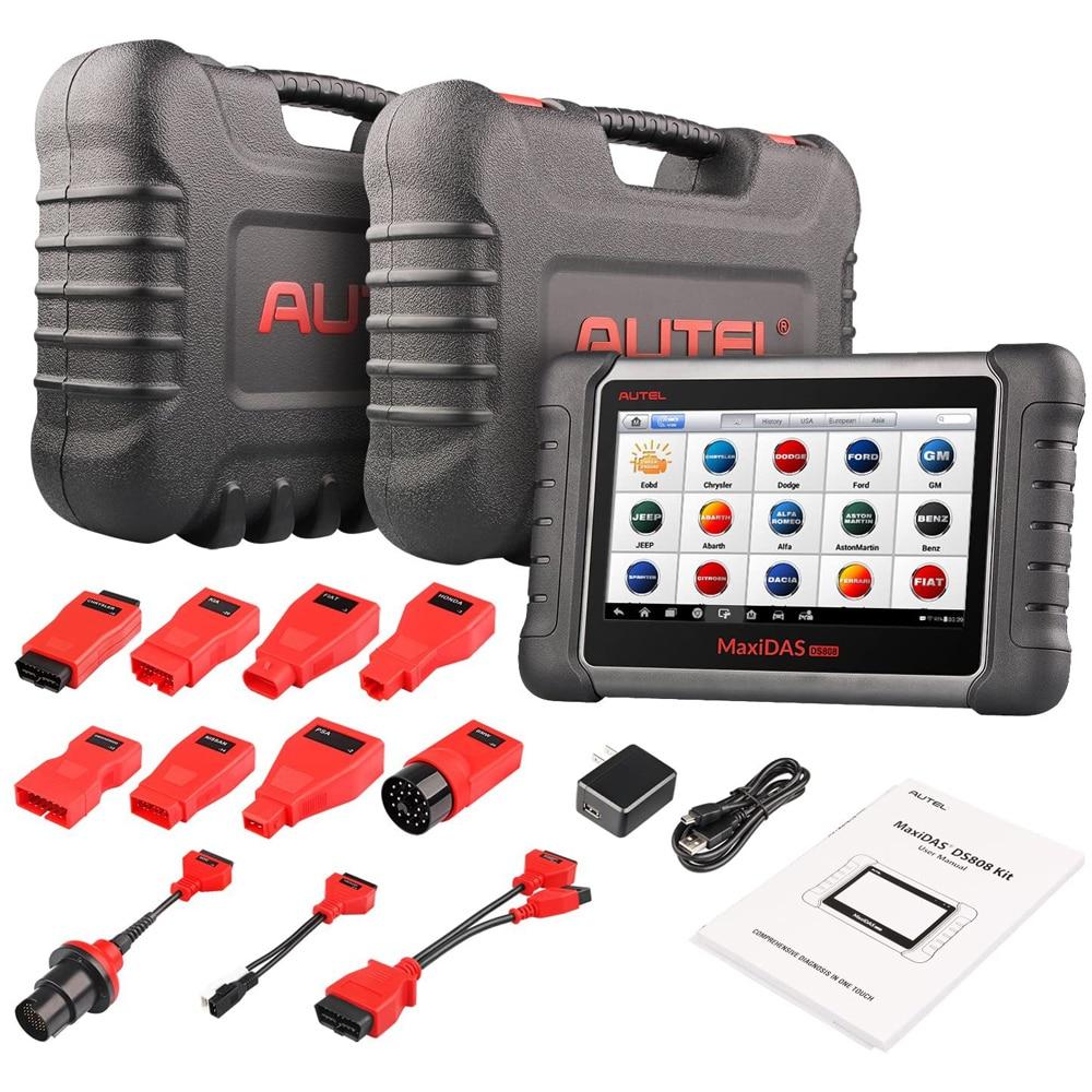 Автомобильный диагностический сканер Autel MaxiDAS DS808K с OE-Level для всех систем диагностики, программирование брелока, ABS