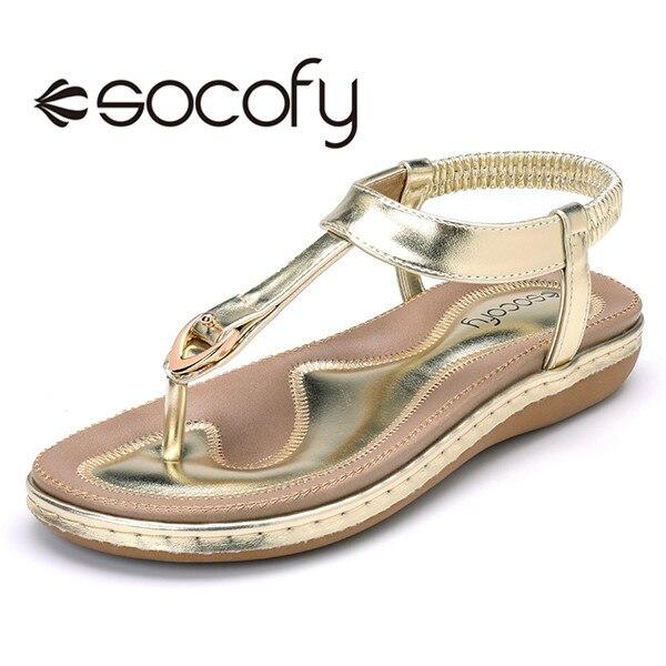 Women Comfortable Clip Toe Elastic Lightweight Slip On Summer Beach Flat Sandals  Clip Toe Shoes Flat  woman's 2.5cm Heel Shoes