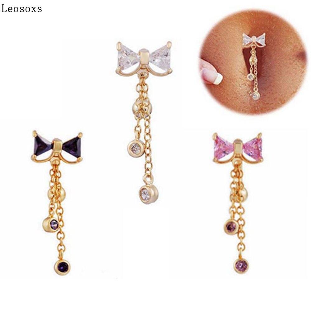 Leosoxs, 1 uds, anillo de acero inoxidable para ombligo, anillo para ombligo, joyería para Piercing en el cuerpo humano