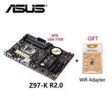 Gebruikt Asus Z97-K R2.0 Atx 1150 Z97 32 Gb DDR3 Moederbord Desktop Board Moederbord Met Gratis Wifi Adapter