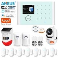 Systeme dalarme de sirene de camera Wifi externe Angus avec capteur douverture de porte dinterphone a telecommande pour la securite a la maison