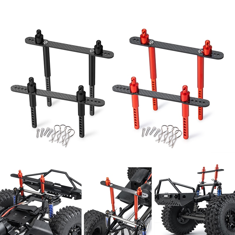AXSPEED RC Car Body Post Mounts Metal Alloy Front and Rear Shell Column for 1:10 AXIAL SCX10 90046 90047 New Upgrade Parts enlarge