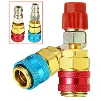 quick coupler extension adapter r134 red 17 mm air condition blue brass