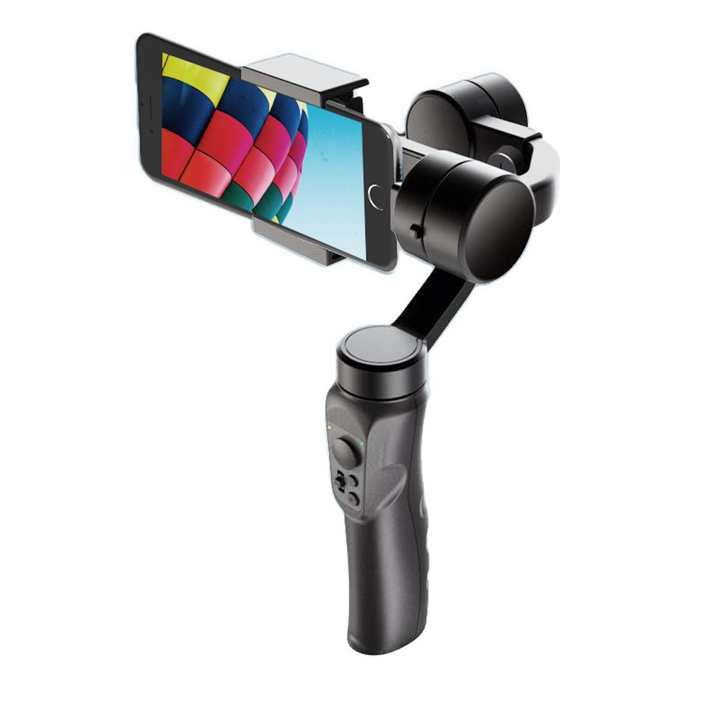 DECO Handheld 3-Axis Smartphone Gimbal Stabilizer with Grip Tripod Vlog YouTube Live Video for iPhone Android (3-Axis Stabilizer