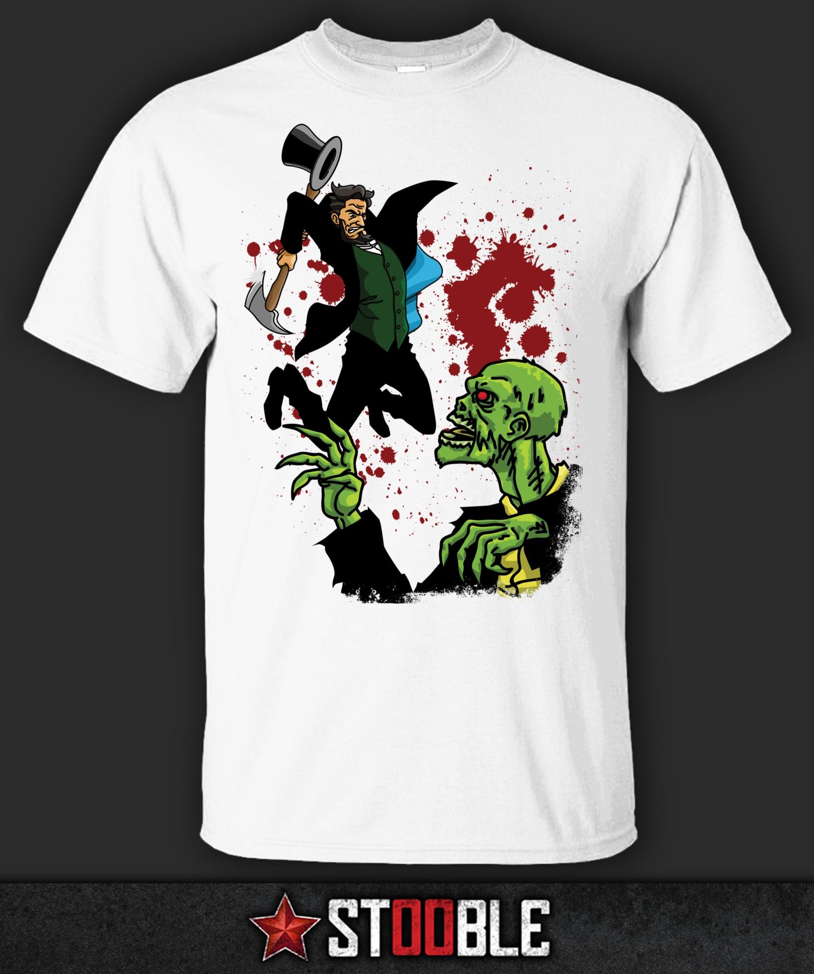 Abraham Lincoln vs camiseta Zombie-Direct de StockistNew Arrival camisetas casuales para Hombre Camisetas con niño Tops descuentos