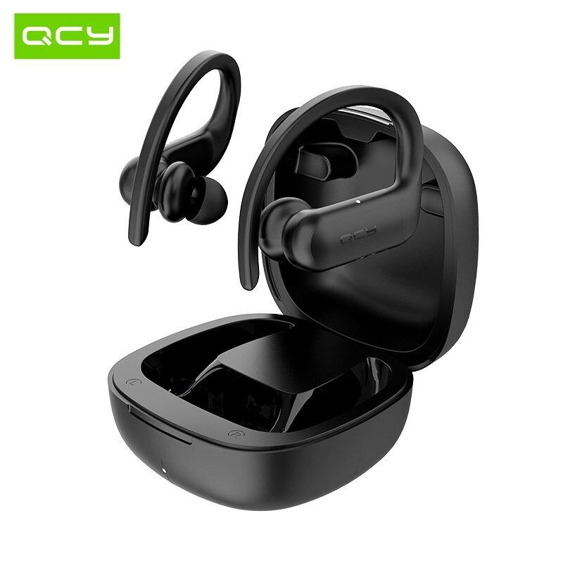 QCY T6 Беспроводные Bluetooth 5,0 спортивные наушники IPX4 водонепроницаемое сенсорное управление и настройка приложения
