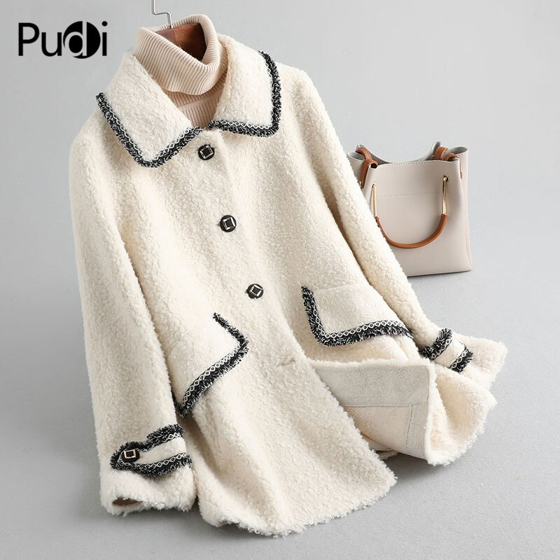 Aorice women winter 30% wool fur coat mix 70% polyester warm jacket girl fur coat  female jacket over size parka A19079