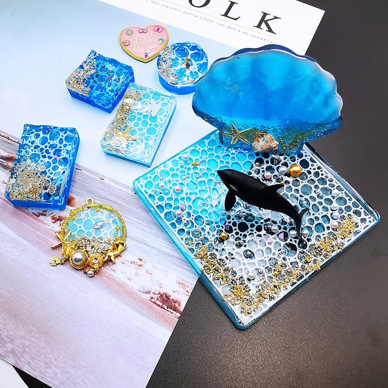 1 шт., полимерная форма Expoxy для ювелирных изделий, материал для наполнения, прозрачная рябь белой воды для изготовления ювелирных украшений