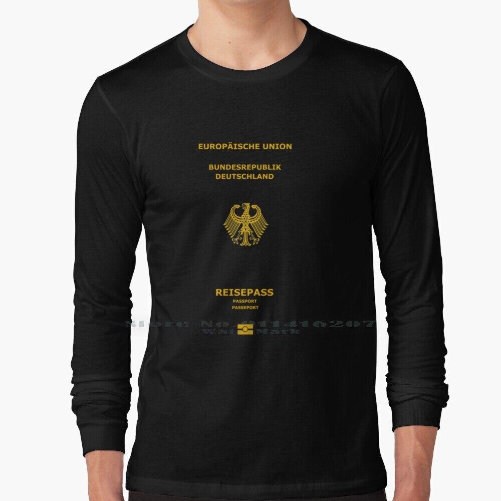 Passport Passport Pullover Sweater Germany Gold T Shirt 100% Pure Cotton Gold Passport Cool Passport Sweater Humor Eu Germany
