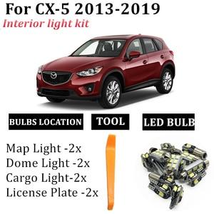 9 шт. светодиодные лампы canbus автомобильные лампы интерьерная посылка комплект для 2013-2019 Mazda CX5 CX-5 Карта Купол дверь багажника пластина светил...