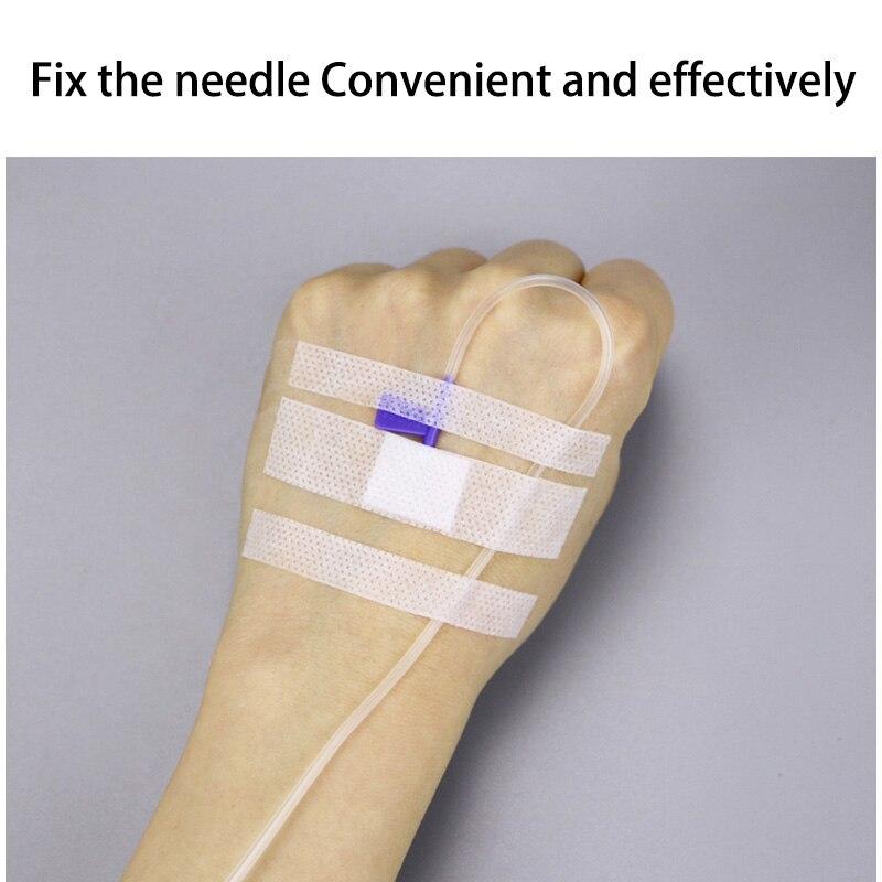 Aguja de infusión no tejida desechable médica, cinta fija de inyección, fijación de aguja de jeringa