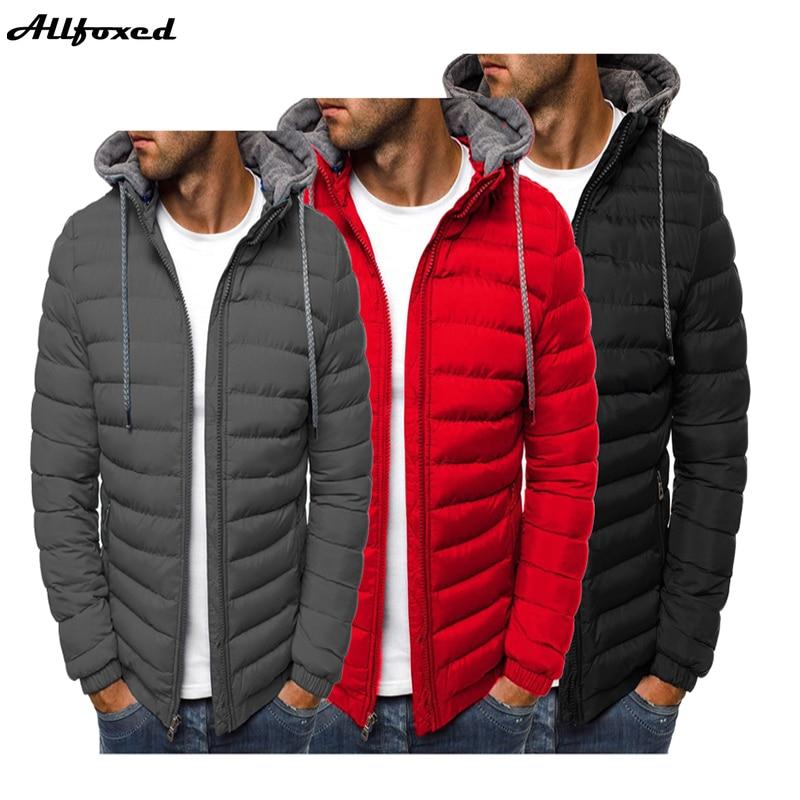 Новинка, мужские теплые пальто, зимние куртки с капюшоном, ветрозащитные куртки, мужские пуховые парки, стеганая куртка, мужские утепленные ...