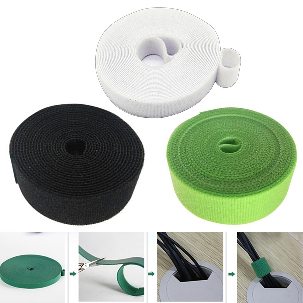 1 Rolls 5M Garden Twine Tie Tape Plant Ties Hook Loop Garden Supports Bamboo Cane Wrap Support PLant Care Products