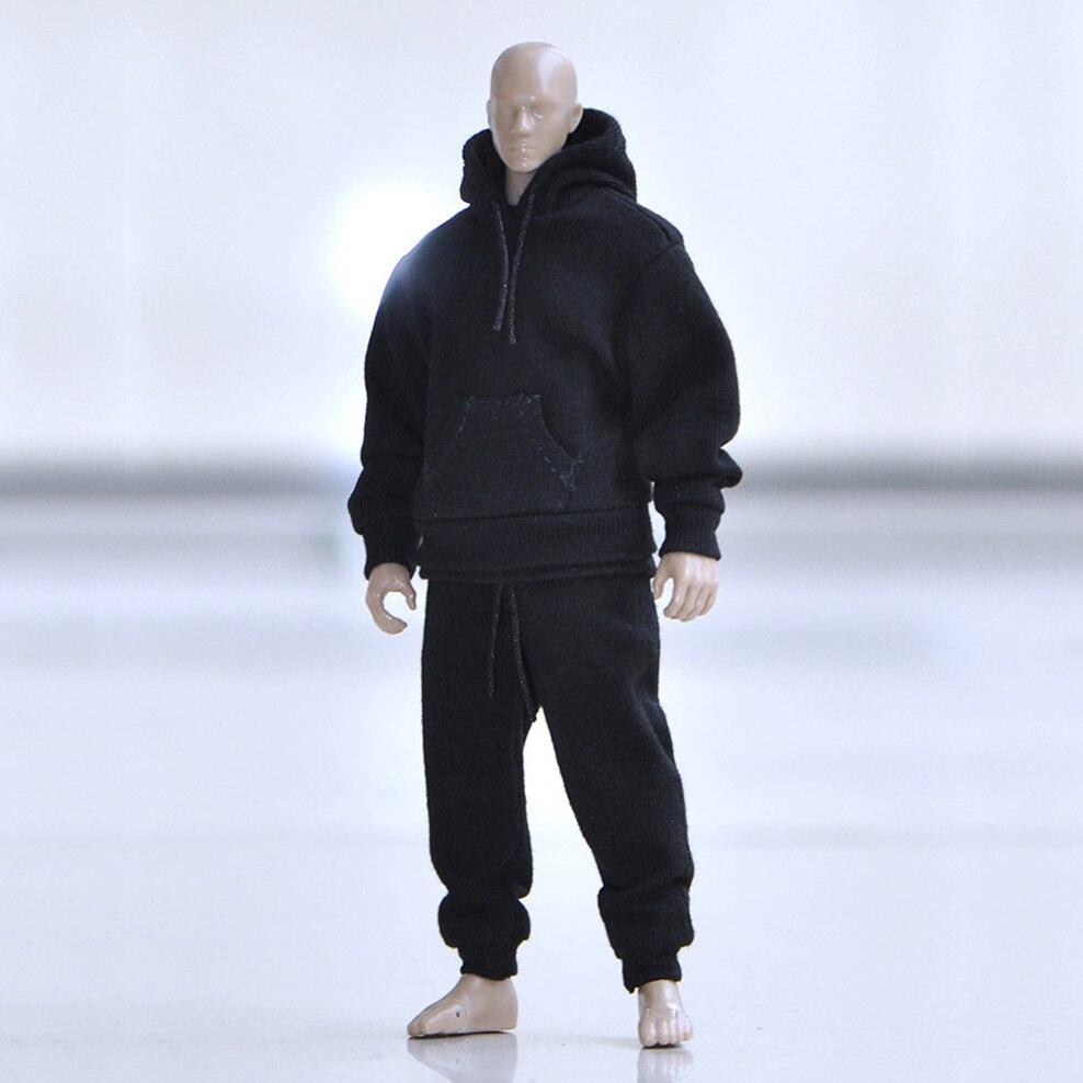 En Stock 1/12 échelle mâle à capuche pull chemise ensemble rue vêtements décontractés pour 6 pouces figurines modèle de corps