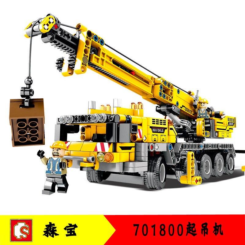 701800 para grúa móvil serie MK II Juegos de bloques de construcción 42009 técnica educativa juguetes para niños sin caja